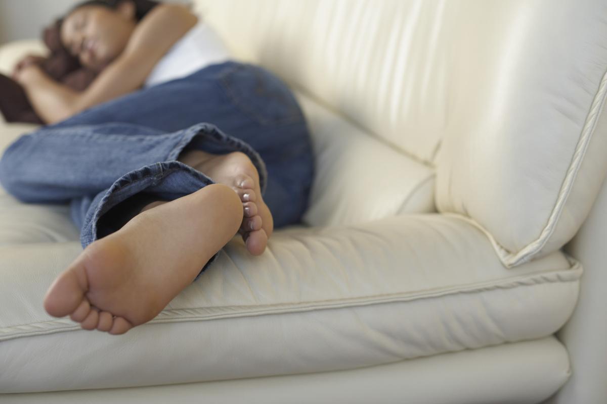 Sleeping on Sofa Healthy Fitness
